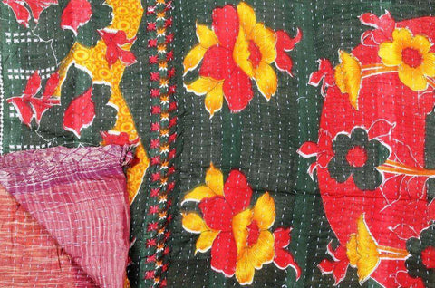 Kantha Throw - Vintage Kantha Thro