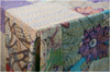 Hand Stitched Kantha Patchwork Tablecloth