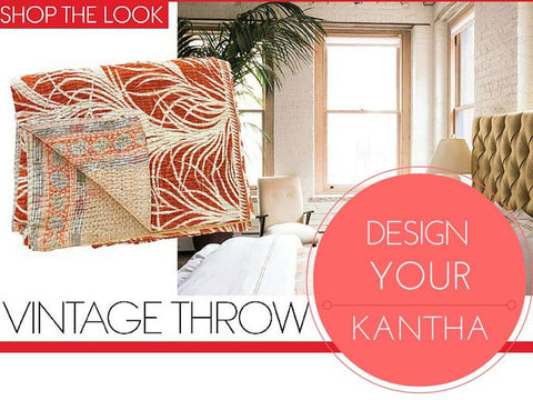 Vintage Kantha Throw - Design Your Vintage Kantha Throw