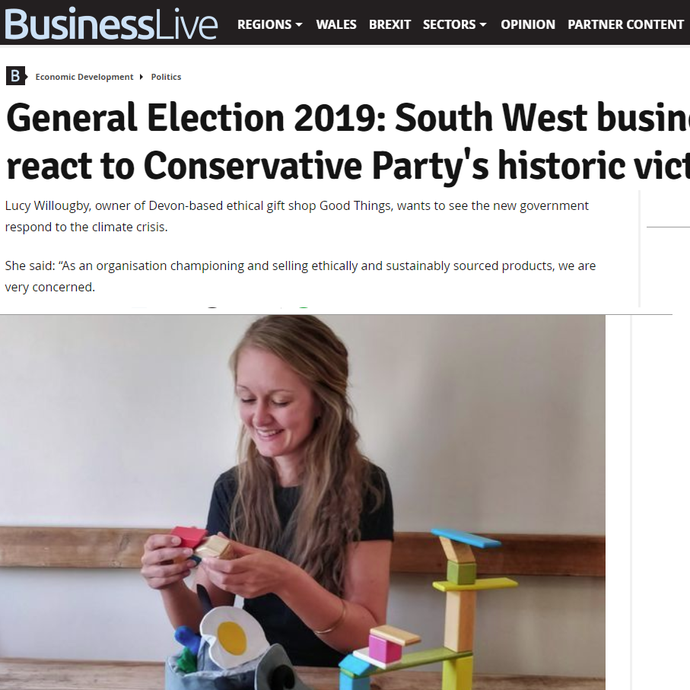 Business Live asks Good Things founder Lucy Willoughby for her response to the 2019 election