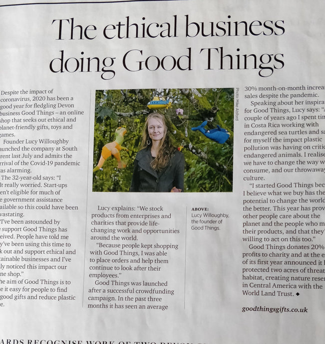 The Ethical Business Doing Good Things - Featured in Devon Life August 2020