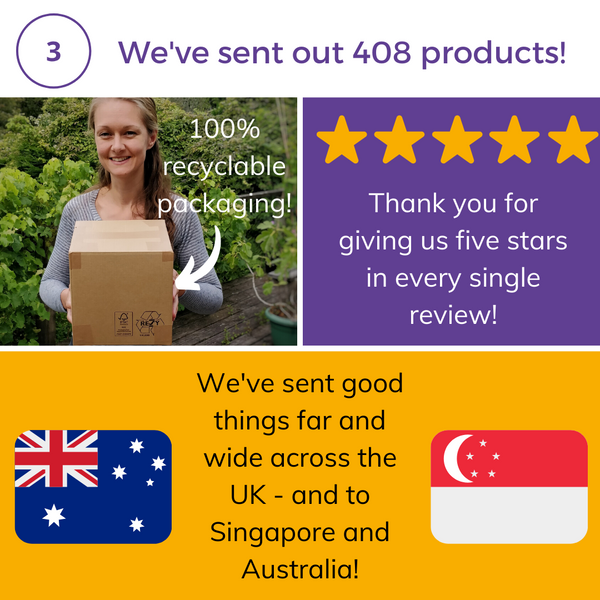 6 month celebration sent 408 products