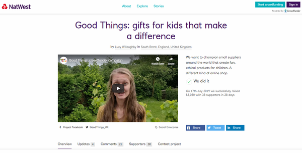 Good Things' crowdfunding campaign