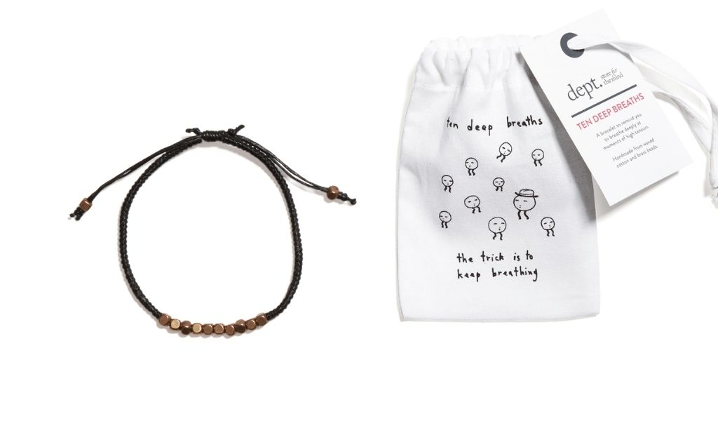Best Eco Gifts 2021 - 10 Deep Breaths Mindful Bracelet - Eco Gifts for Teenagers