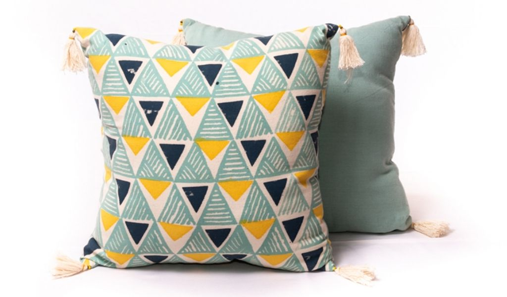Best Eco Gifts 2021 - Fair Trade block print cotton cushion - eco gifts for teenagers