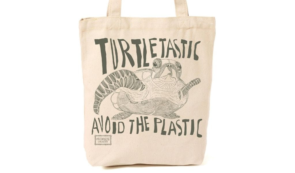 Best Eco Gifts 2021 - gifts for eco warriors - Turtle tote bag