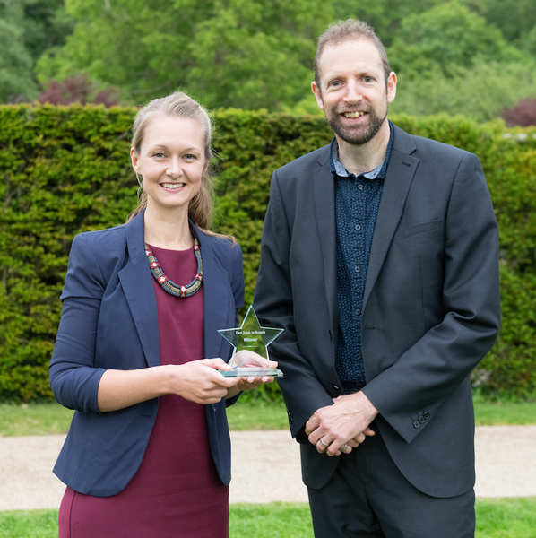 Lucy Willoughby, founder of Good Things with Astley Media's Dan Pritchard