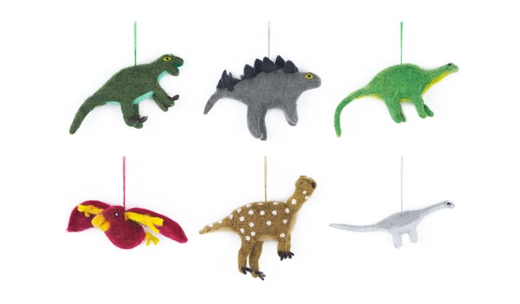 Felt dinosaurs - ethical christmas gifts that give back