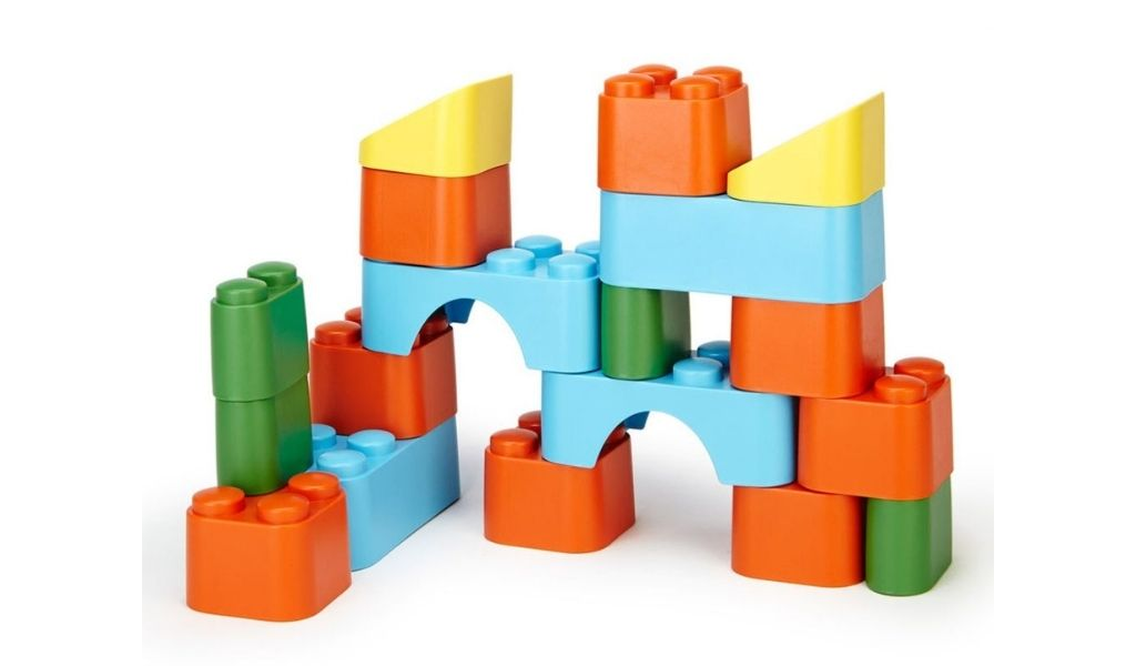 Green Toys blocks set - ethical christmas gifts that give back
