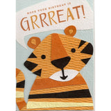 Grrreat birthday - handmade and recycled birthday card