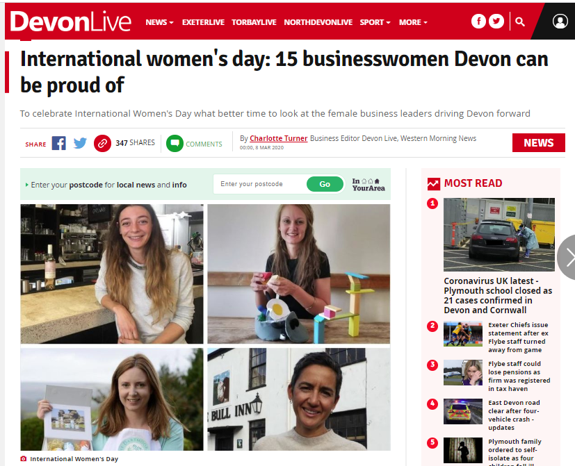 International Women's Day - Devon Live snapshot
