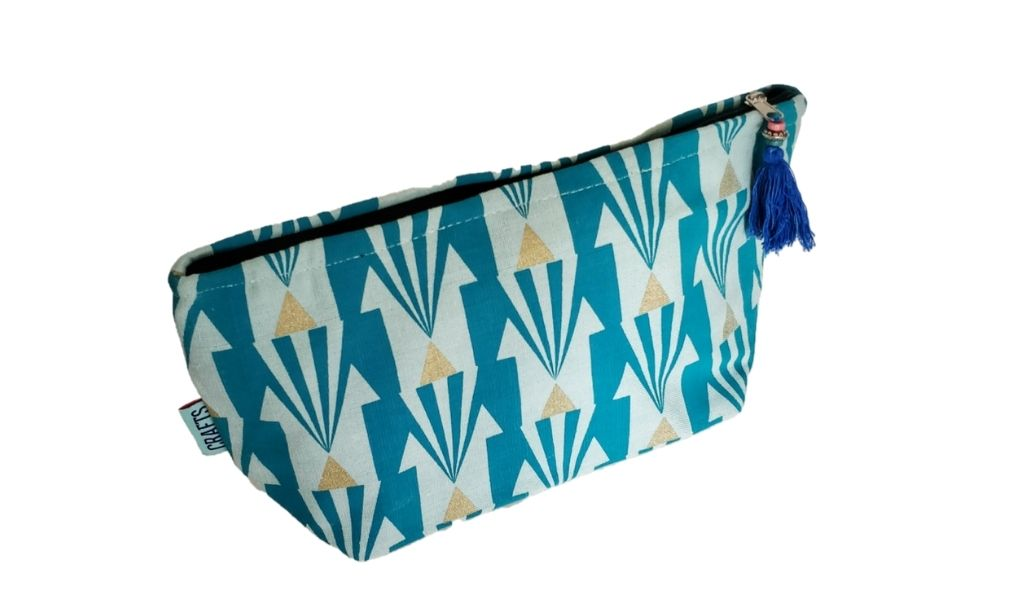 Large Handmade Washbag in Arrow Print - ethical christmas gifts that give back