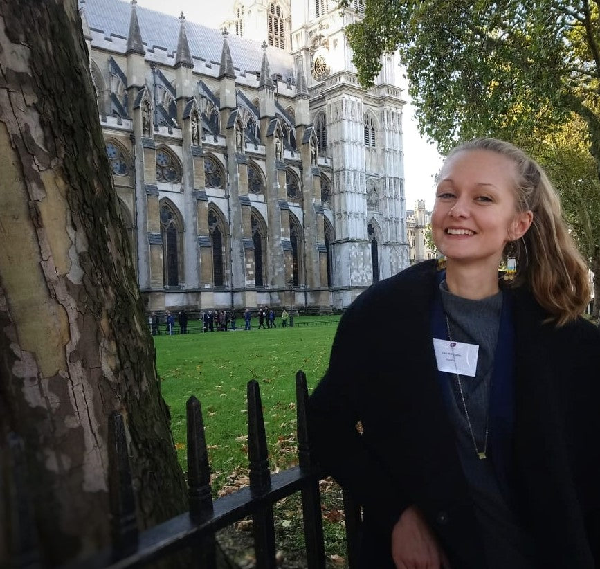 Lucy at House of Commons start-up pitch