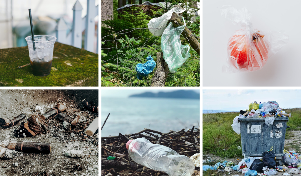 Most commons types of plastic pollution - image