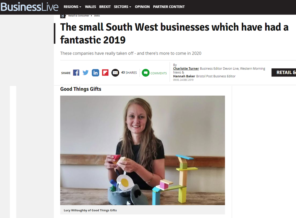 The small South West businesses which have had a fantastic 2019