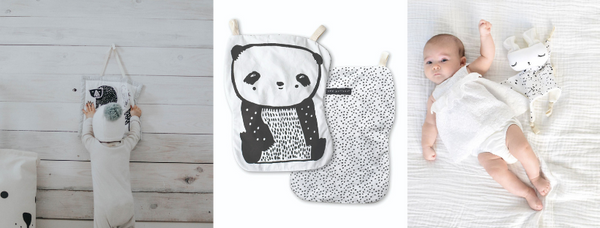 Wee Gallery activity pad, crinkle panda and cuddle bunny