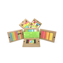 Load image into Gallery viewer, 130-Piece Tegu Classroom Kit wooden building blocks - contents