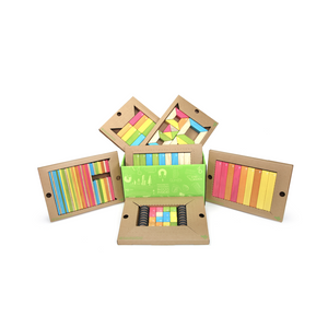 130-Piece Tegu Classroom Kit wooden building blocks - contents