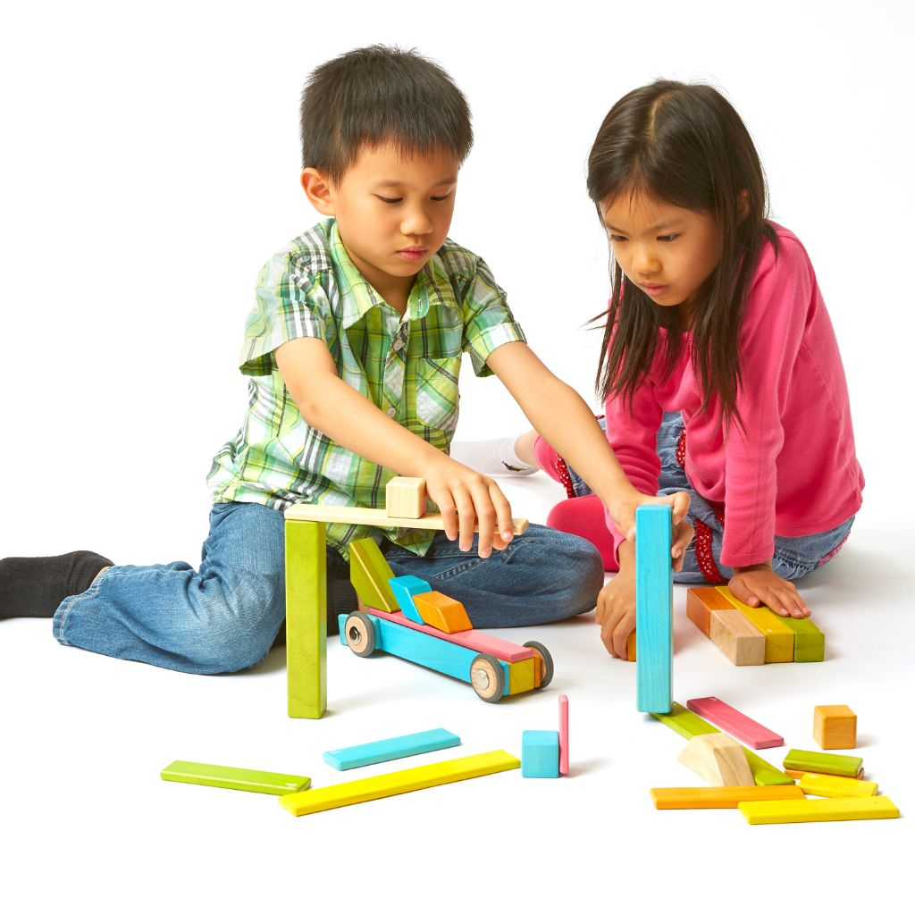 90-Piece Tegu Classroom Kit - wooden blocks for kids - children playing