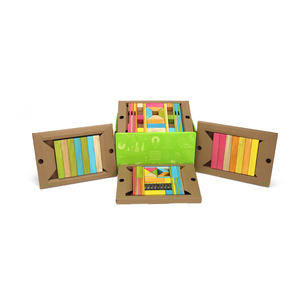 90-Piece Tegu Classroom Kit - open box