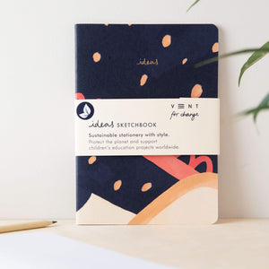 A5 Notebook Soft Cover Sustainable  Blue