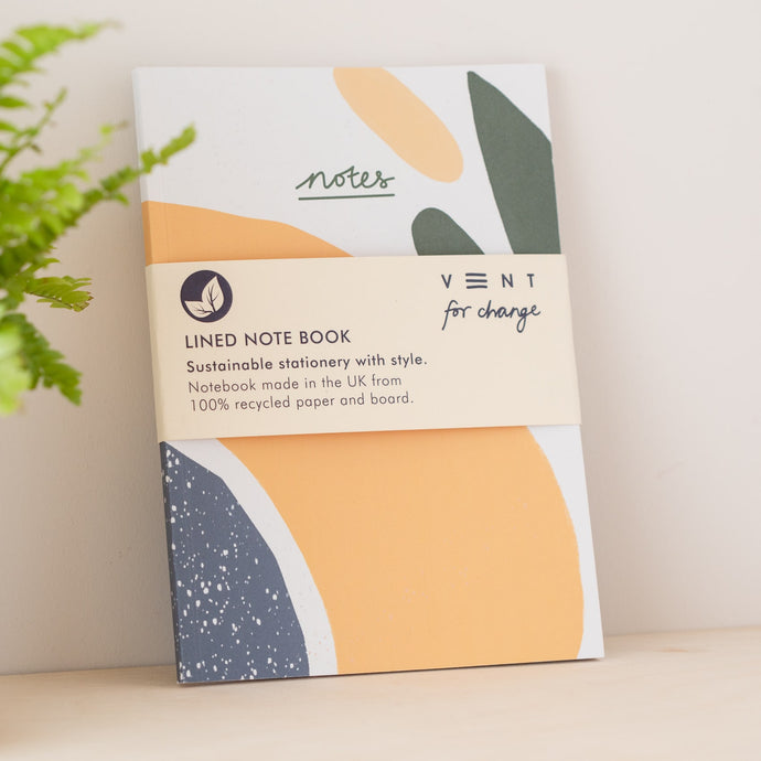 A5 Recycled Notebook -  Sustainable & Eco Friendly Notebook olive