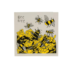 Bee Free   Blank Recycled Card