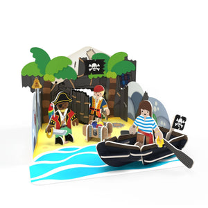 Build and Play Pirate Island from Playpress