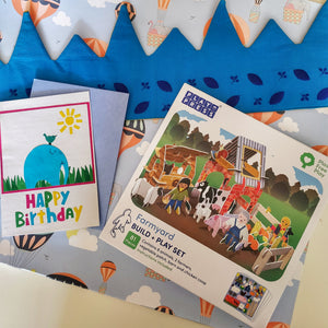 Children's Eco Birthday Gift Bundle B&S card flat