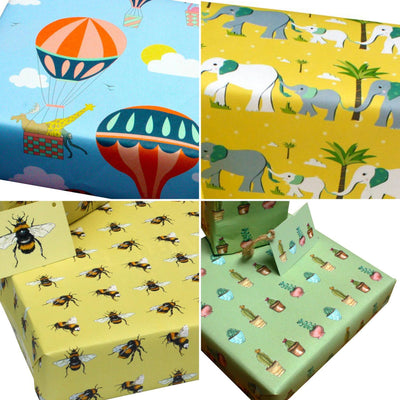 Eco-friendly Wrapping Paper Pack - choose from 5 designs