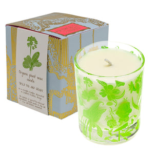 Floral Plant Wax Candle  Wild Fig & Grape