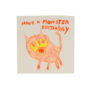 Have a Monster Birthday recycled birthday card from ARTHOUSE Unlimited