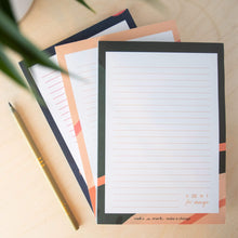 Load image into Gallery viewer, Ideas A5 Notepad  Recycled & Sustainable - all colours