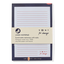 Load image into Gallery viewer, Ideas A5 Notepad  Recycled & Sustainable - blue with packaging