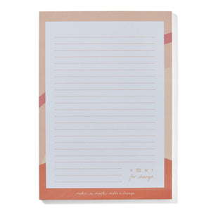Ideas A5 Notepad  Recycled & Sustainable - pink