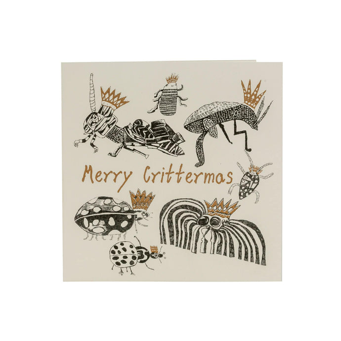 Merry Crittermas recycled  Christmas card from ARTHOUSE Unlimited-min