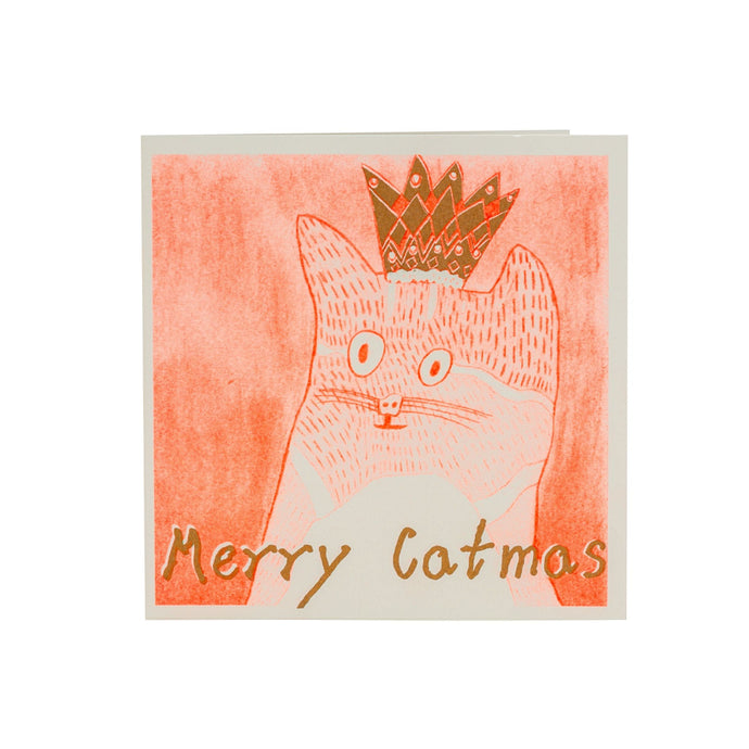 Merry Catmas recycled Christmas card from ARTHOUSE Unlimited