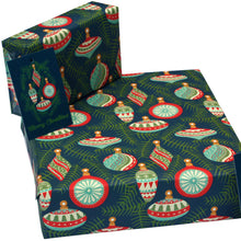 Load image into Gallery viewer, Recycled Christmas wrapping paper - Christmas baubles