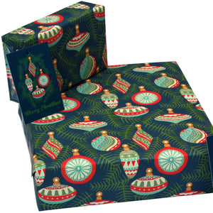 Recycled Christmas wrapping paper - Christmas baubles