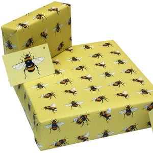 Recycled wrapping paper - bees gift wrap | Good Things