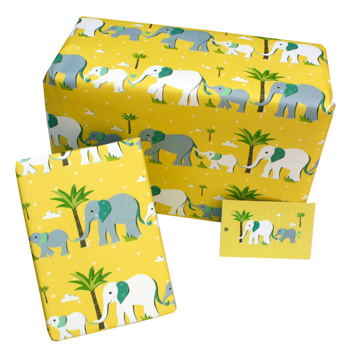 Recycled wrapping paper - elephants gift wrap | Good Things
