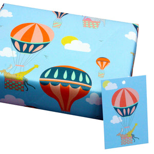 Recycled wrapping paper - hot air balloons gift wrap | Good Things