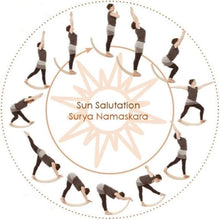 Load image into Gallery viewer, Wooden Balance Board with Bounce - sun salutations