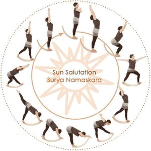 Wooden Balance Board with Bounce - sun salutations