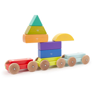 Wooden train with magnets from Tegu