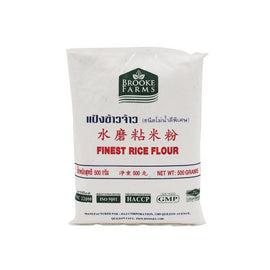 BROOKE FARMS FINEST RICE FLOUR 500G