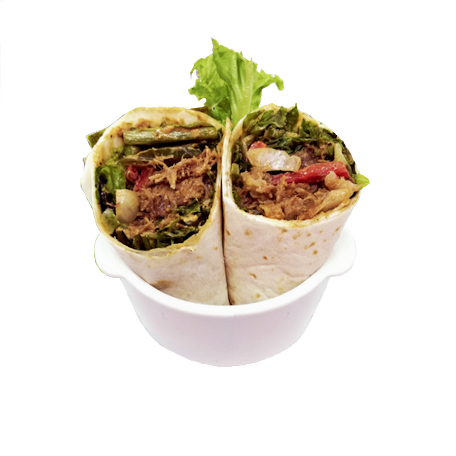 Happy Greens - Babe Come Back (Pulled Pork Wrap) Tortilla Wrap 578 calories