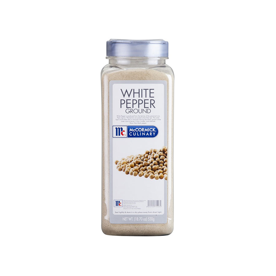 MCCORMICK WHITE PEPPER GROUND  530G