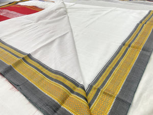 Cotton Saree with Silk Pallu