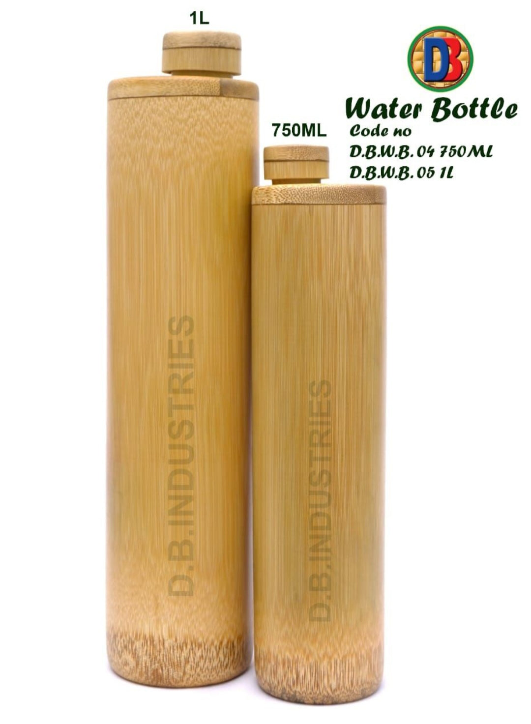 Bamboo Water Bottle - 1 Litre